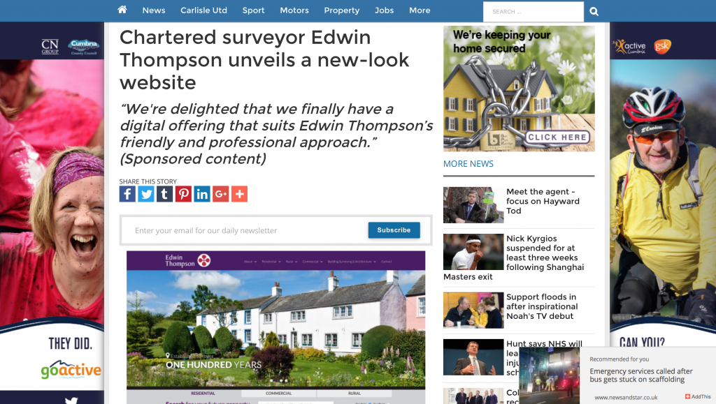 """We're delighted that we finally have a digital offering that suits Edwin Thompson's friendly and professional approach."""