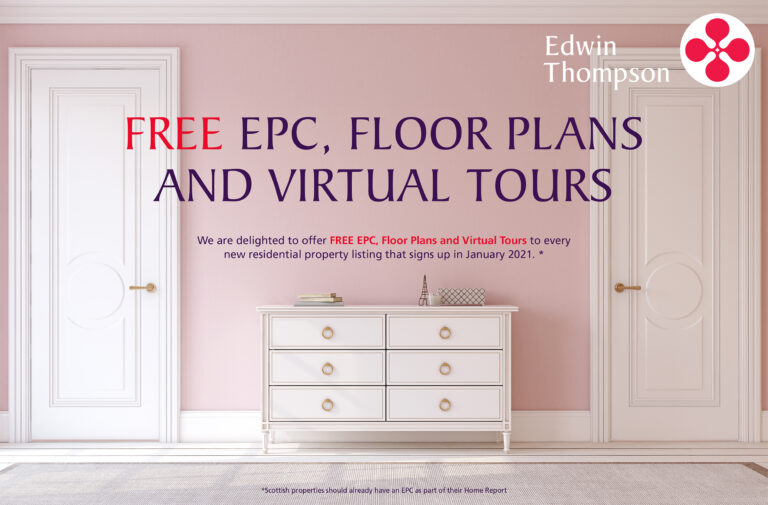 free EPC, Floor Plans and Virtual Tours for every residential listing in January 2021 with Edwin Thompson Estate Agents